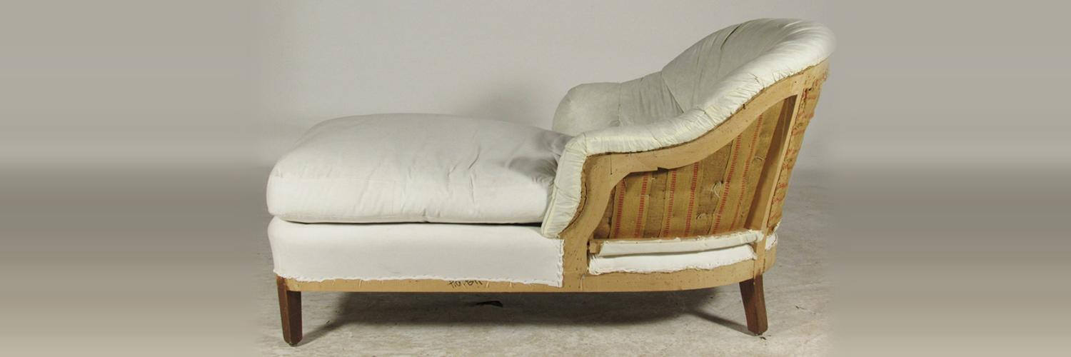 Antique divan with new upholstery